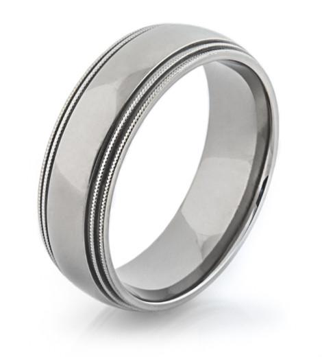 Milled Edge Titanium Ring Unique Titanium Rings Amp More