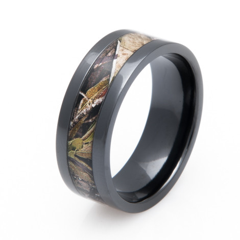 Mossy Oak Obsession Camo Ring Unique Titanium Rings