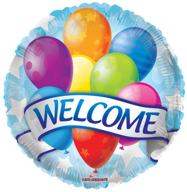 Welcome Balloons 18 Welcome Banner Amp Balloons 1ct
