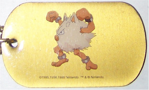 Pokemon Primeape Dogtag necklace