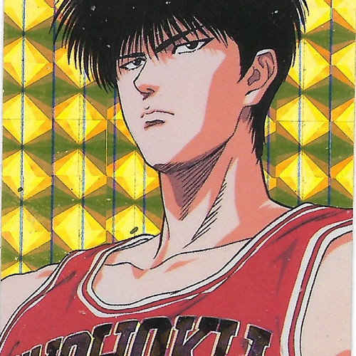 Slam Dunk Kaede Rukawa foil Bookmark Sticker