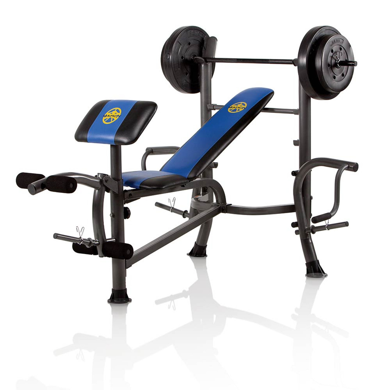 Marcy Standard Bench 80 Lb Weight Set Heavy Duty High