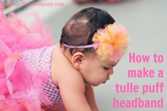 DIY Tulle Puff Headband Amp Tulle Knot Headband The Hair