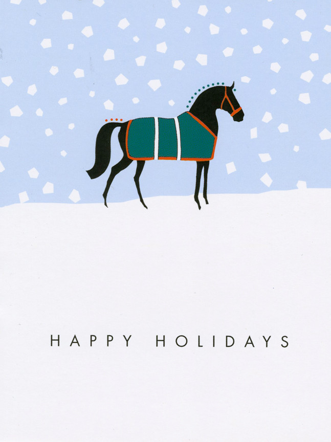 Snowy Paddock Horse Holiday Cards Box Of 8