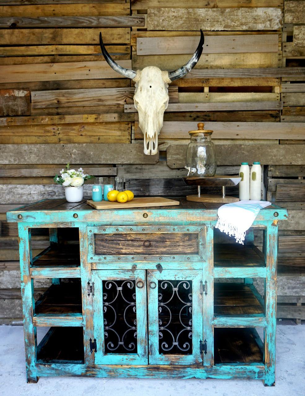 Indigo Rustic Island Sofias Rustic Furniture