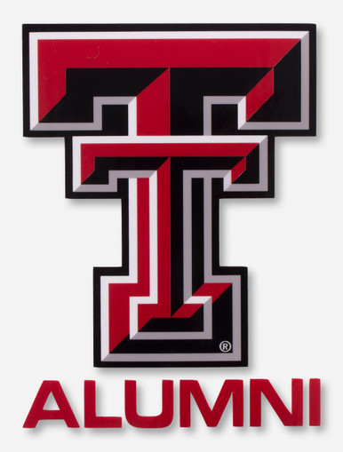 Texas Tech Full Color Double T Alumni Decal Red Raiders