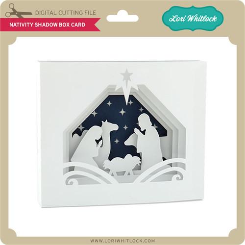 5x7 Nativity Shadow Box Card Lori Whitlocks SVG Shop