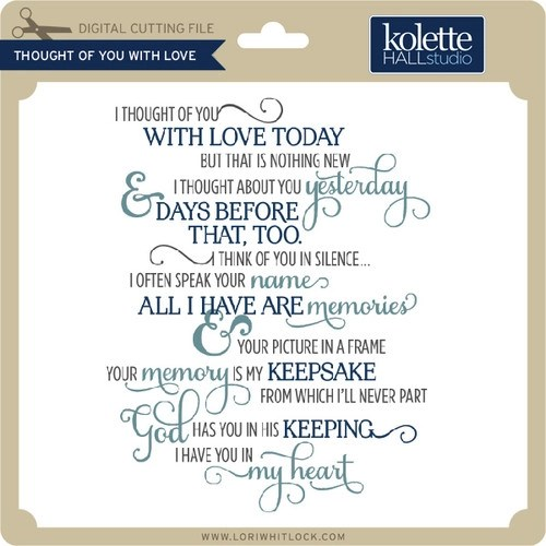 Download Thought Of You With Love - Lori Whitlock's SVG Shop
