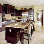 Contemporary Kitchen With Dark Wood Cabinets D145 203 338