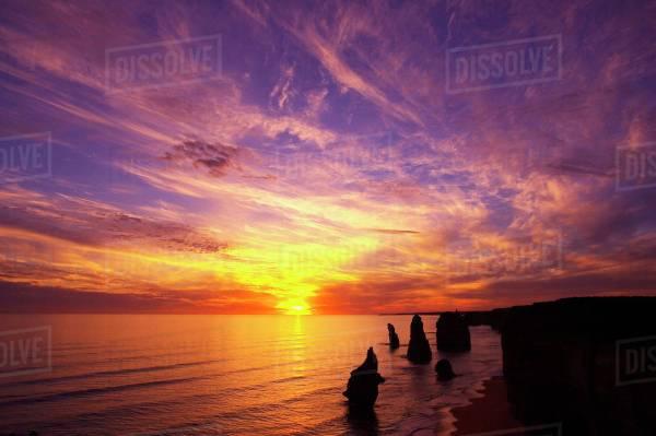 Sunset, Twelve Apostles, Port Campbell National Park ...
