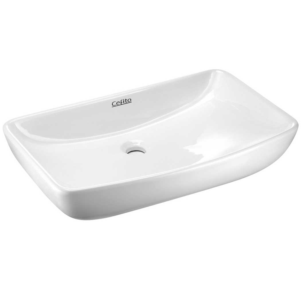 cefito ceramic rectangle sink bowl white