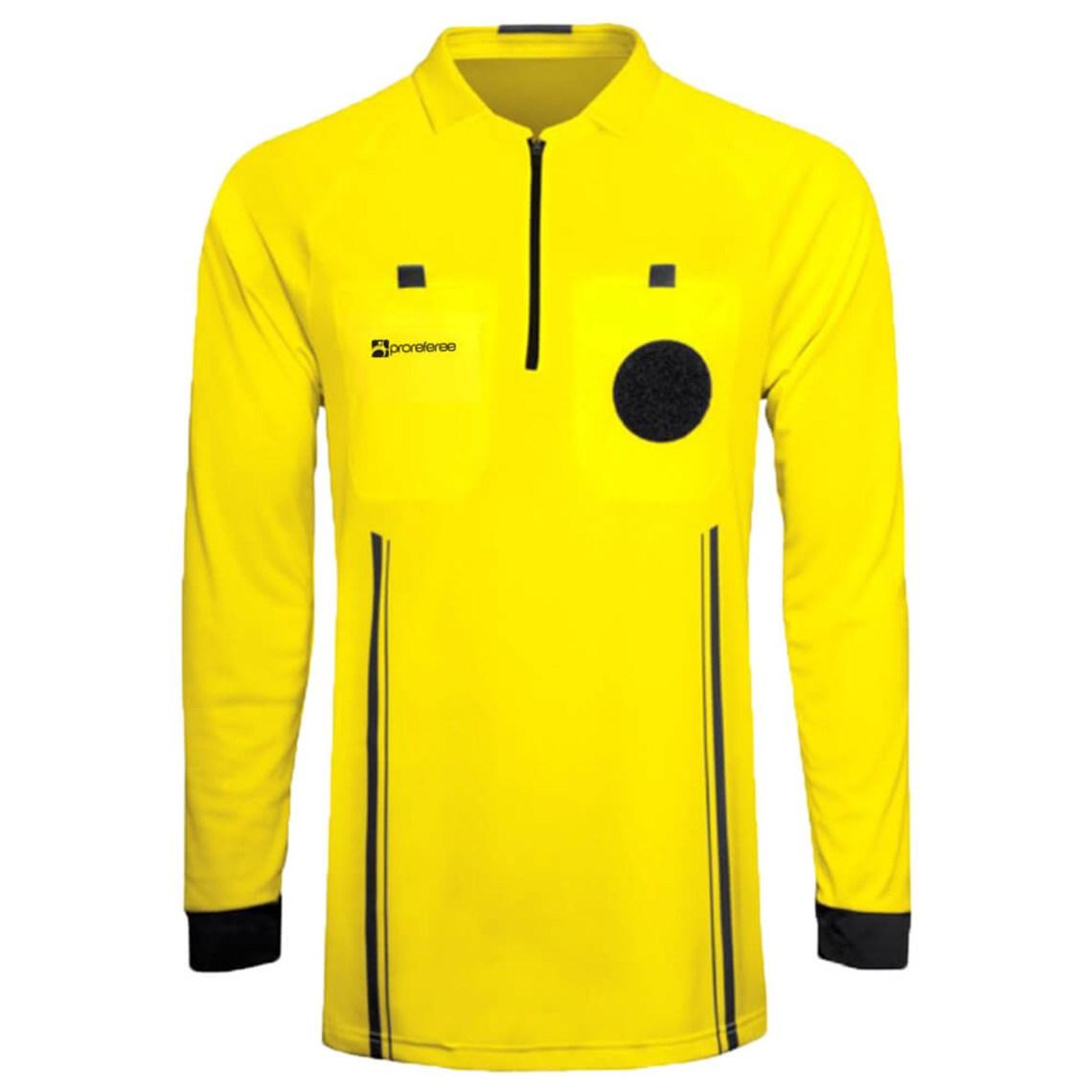 ProReferee Soccer Referee Jersey Long Sleeve (Yellow)