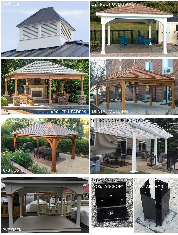 Buy Cedar Patio Cover Kits Backyard Pavilion Kits