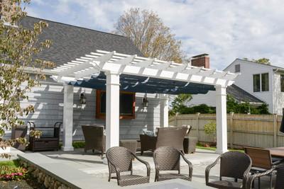 Fiberglass Pergola Kit Retractable Canopy Sunbrella