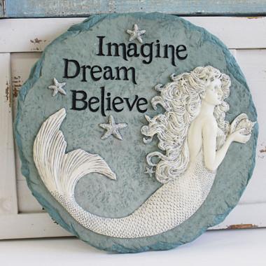 Enchanted Mermaid Stepping Stone Imagine Dream Believe