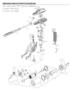 Minn Kota Endura C2 Pro 55 Parts  2013