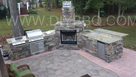 DIY BBQ Custom Fireplace and Island frame kit on Diy Patio Grill Island id=66202