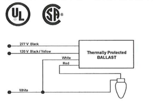 1110247SCTC Universal Metal Halide Fcan 400w Ballast