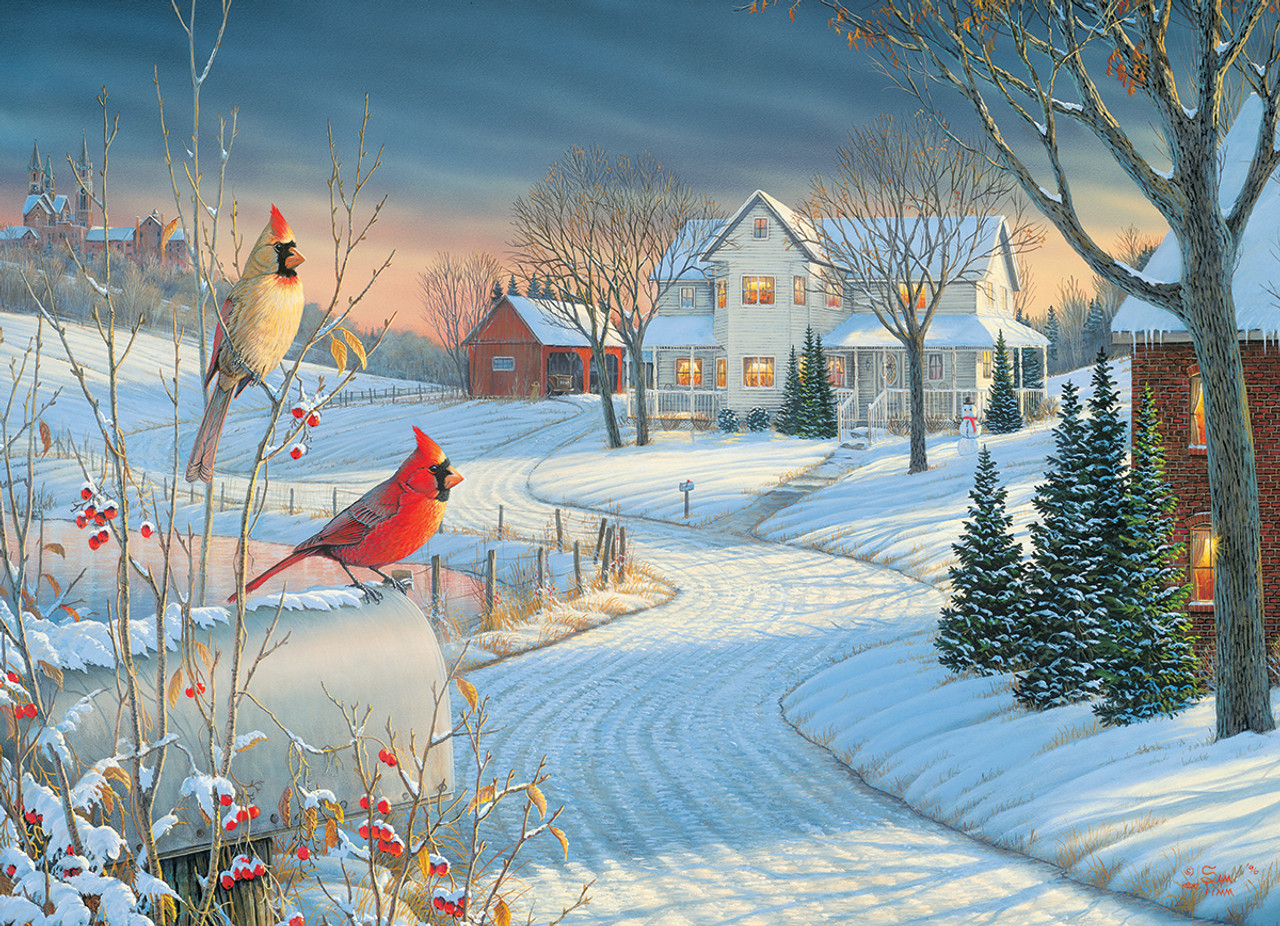 Country Cardinals by Sam Timm - 1000pc Jigsaw Puzzle by ...