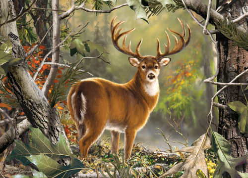Realtree Backcountry Buck 1000pc Jigsaw Puzzle By Masterpieces