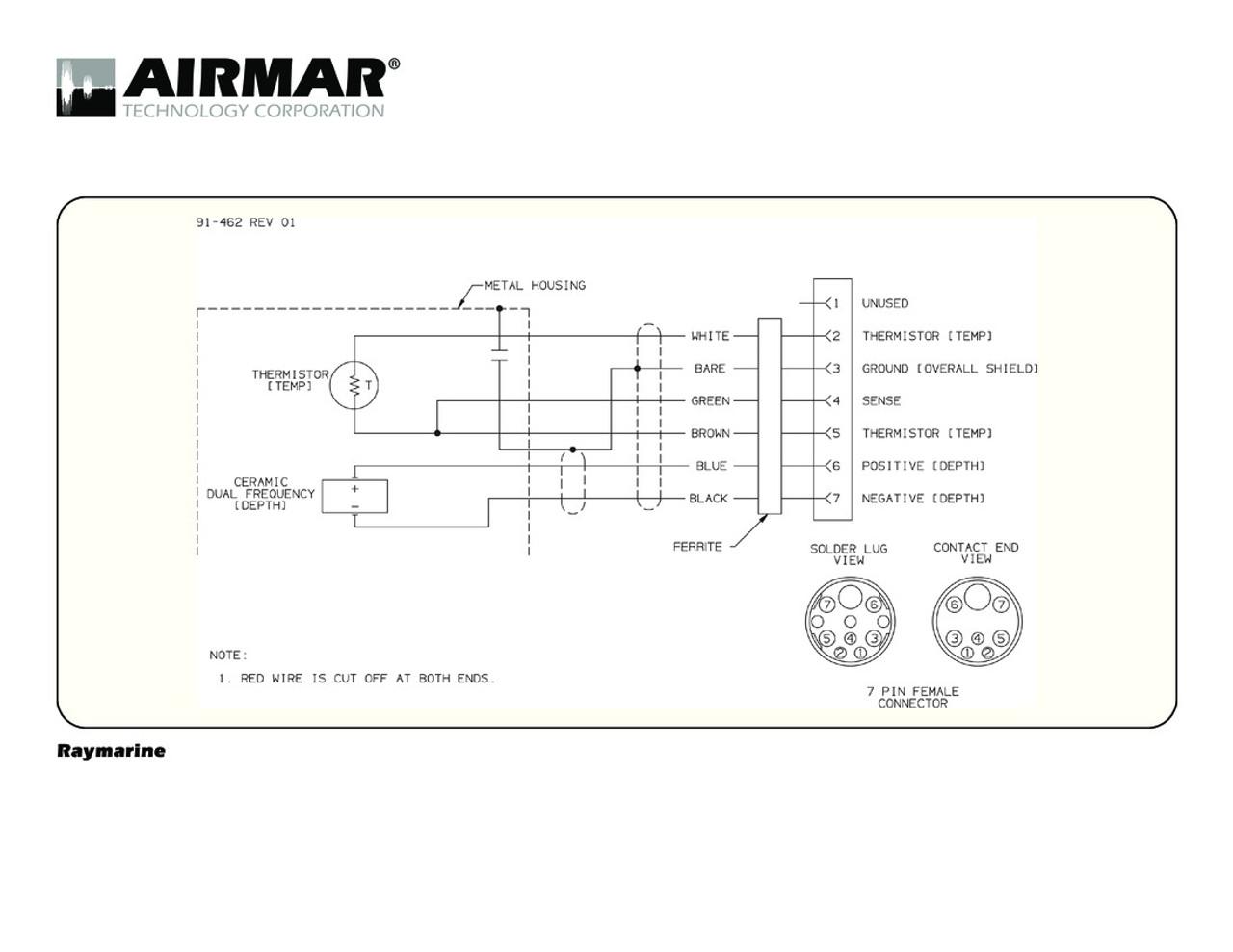 Airmar Wiring Diagram Raymarine 7 pin (D,T) | Blue Bottle