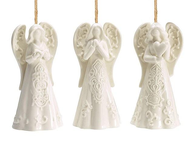 Angel Christmas Ornament  Styles White