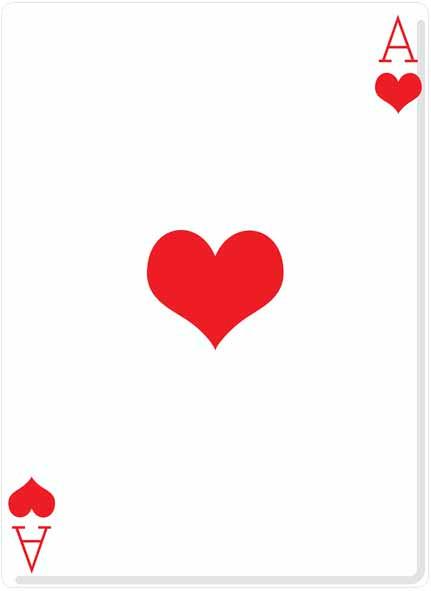 SS2400 Lifesize Cardboard Cutout Of Ace Of Hearts Poker