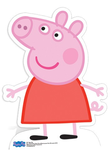 Lifesize Cardboard Cutout Of Peppa Pig From Peppa Pig Buy Cutouts Standees At