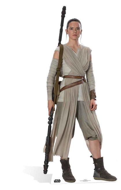 Rey Star Wars The Force Awakens Lifesize Cardboard Cutout