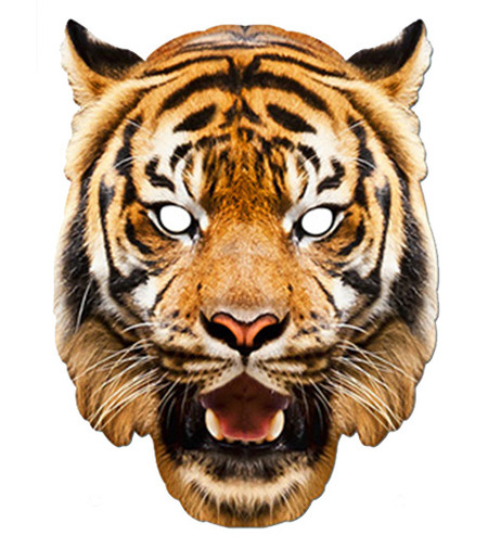 Tiger Animal Card Party Face Mask In Stock Now With Free