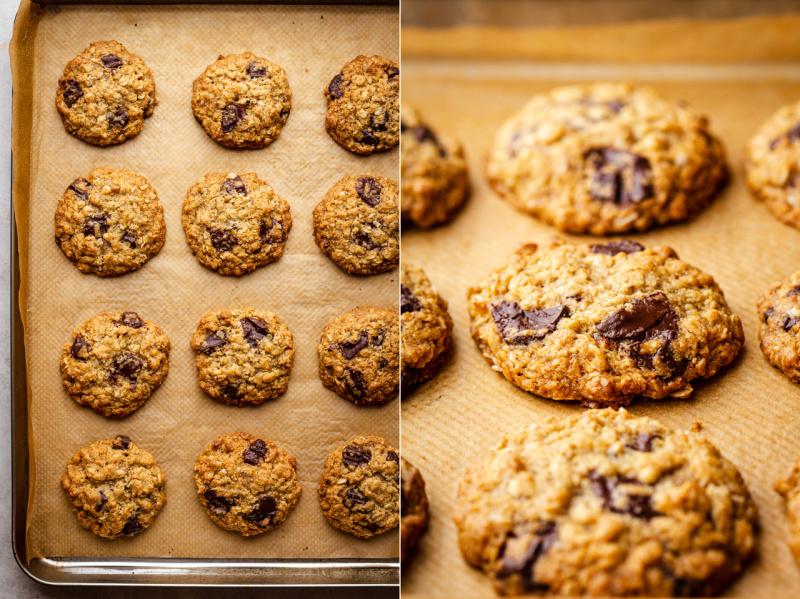 vegan oat cookies top down side