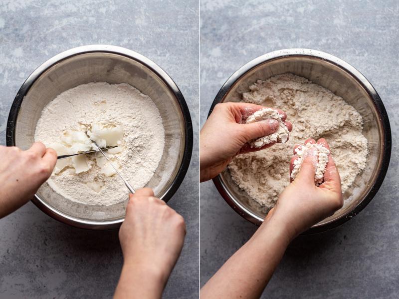 ginger vegan scones making dough