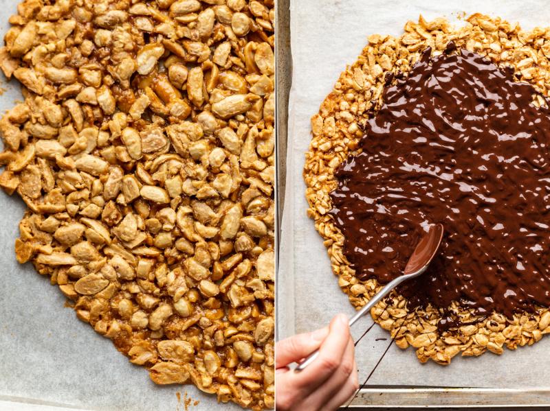 vegan peanut brittle chocolate