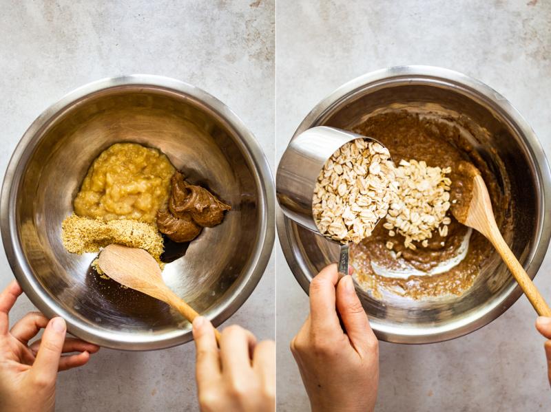 healthy granola making