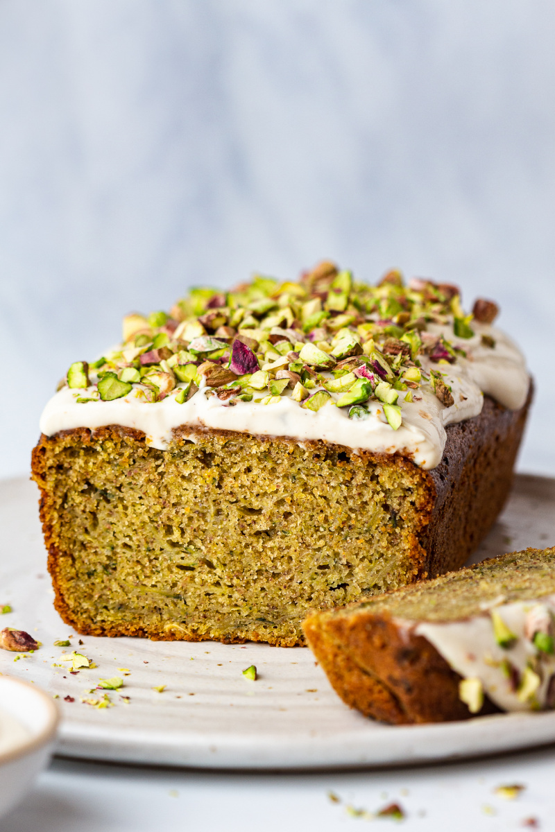 vegan courgette cake cross section
