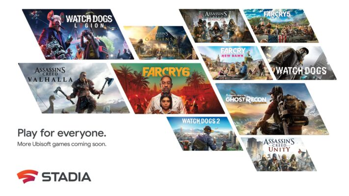 En rad Ubisoft-spel kommer till Google Stadia
