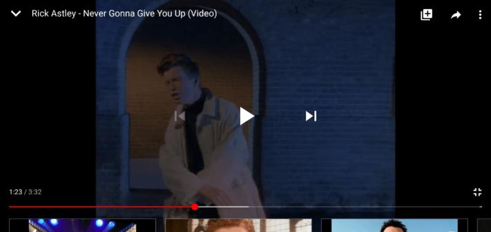 Inte en bugg: YouTube förhindrar tryck på förloppsindikatorn