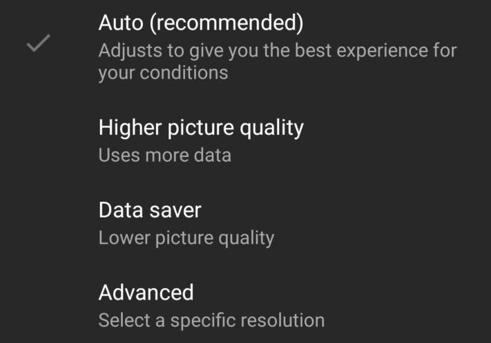 YouTube-test låter användare ange standardkvalitet