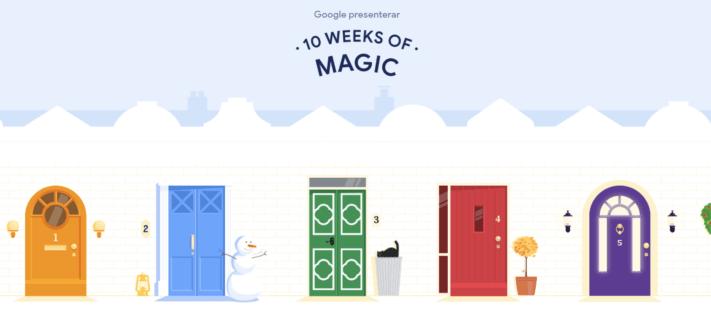 "Google publicerar fyndkalendern ""10 Weeks of Magic"""