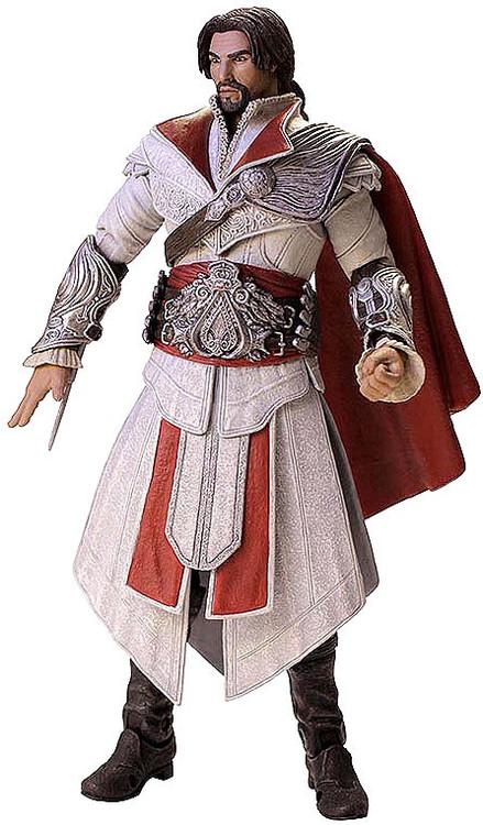 NECA Assassins Creed Brotherhood Ezio Exclusive Action Figure Ivory Assassin Unhooded ToyWiz