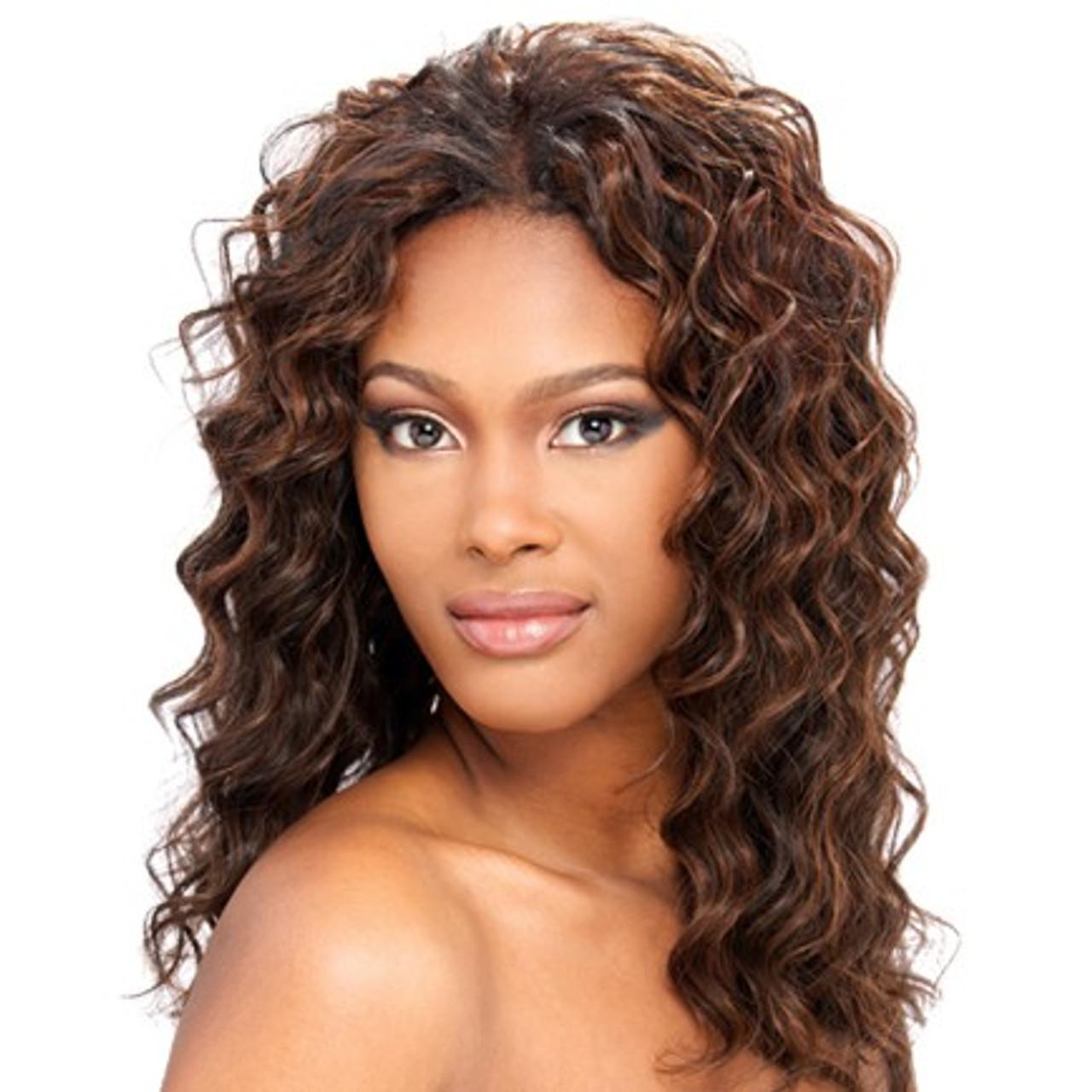 Human Hair Weave Milky Way Que Loose Deep 4pcs Top Hair Wigs