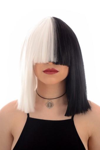 SIA BlackWhite Wig BACK IN STOCK Celeb Wigs Hair By