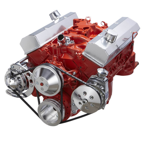 Chevy VBelt Pulley & Bracket System: 302305350400 SBC