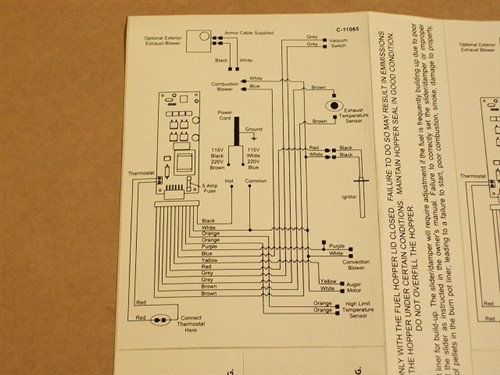 Replacement Enviro EF5 Self Adhesive Wiring Diagram  50335