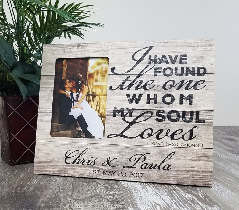 Personalized Wood Wedding Picture Frames | Framesite.co
