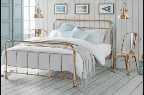 KING MADRID COPPER & BRASS PLATED BED