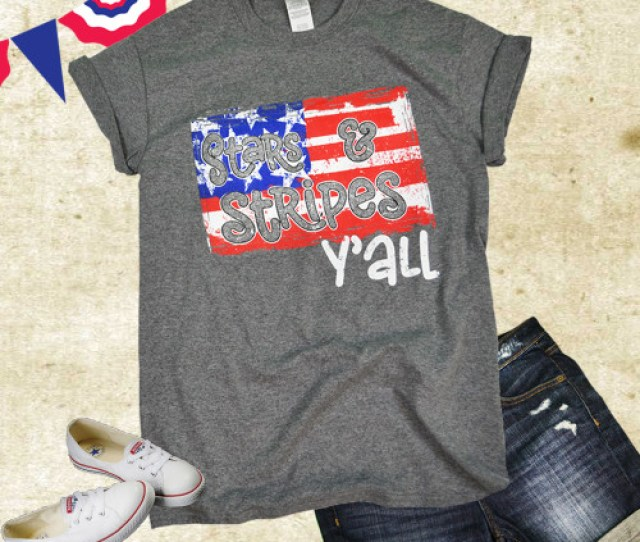 Stars And Stripes Yall T Shirt