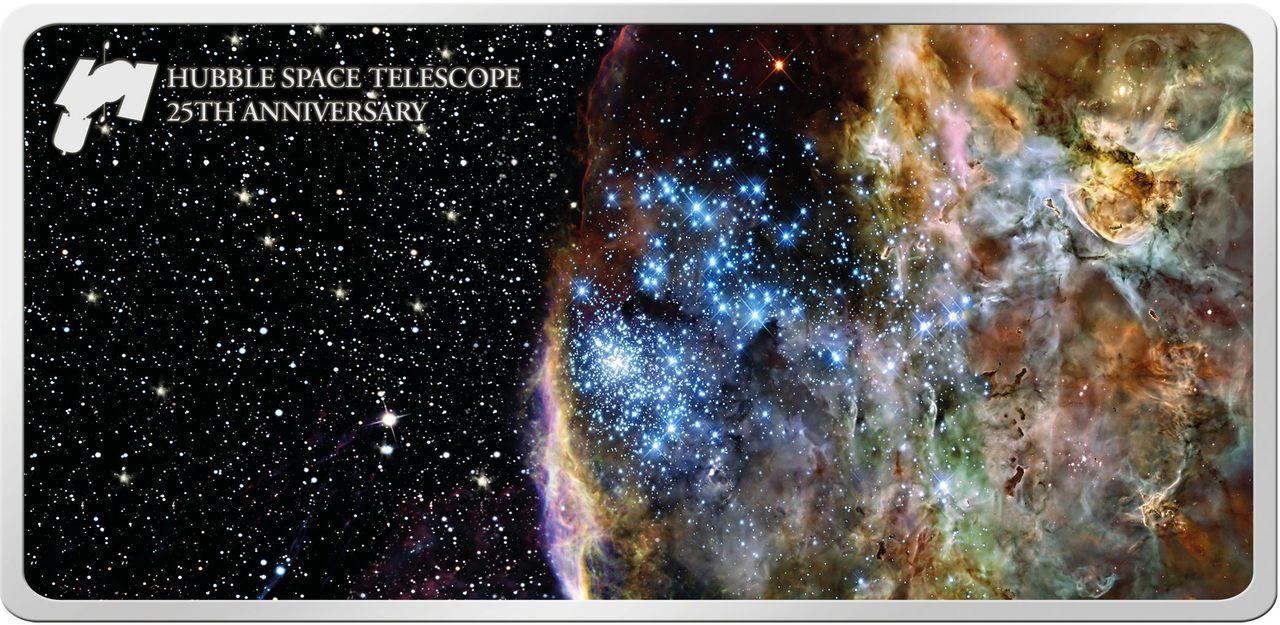 25th Ann. The HUBBLE Space Telescope - 1 oz Pure Silver ...
