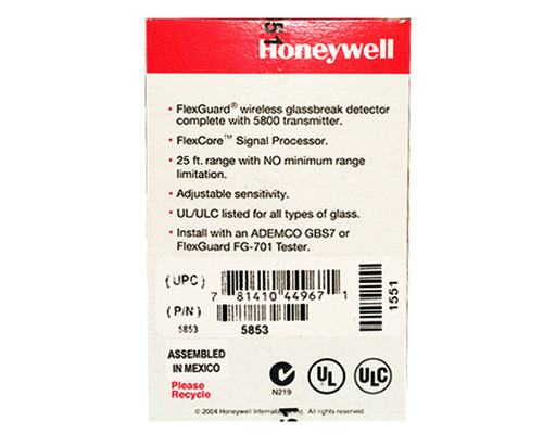 Honeywell 5853 Wireless Glass Break Sensor