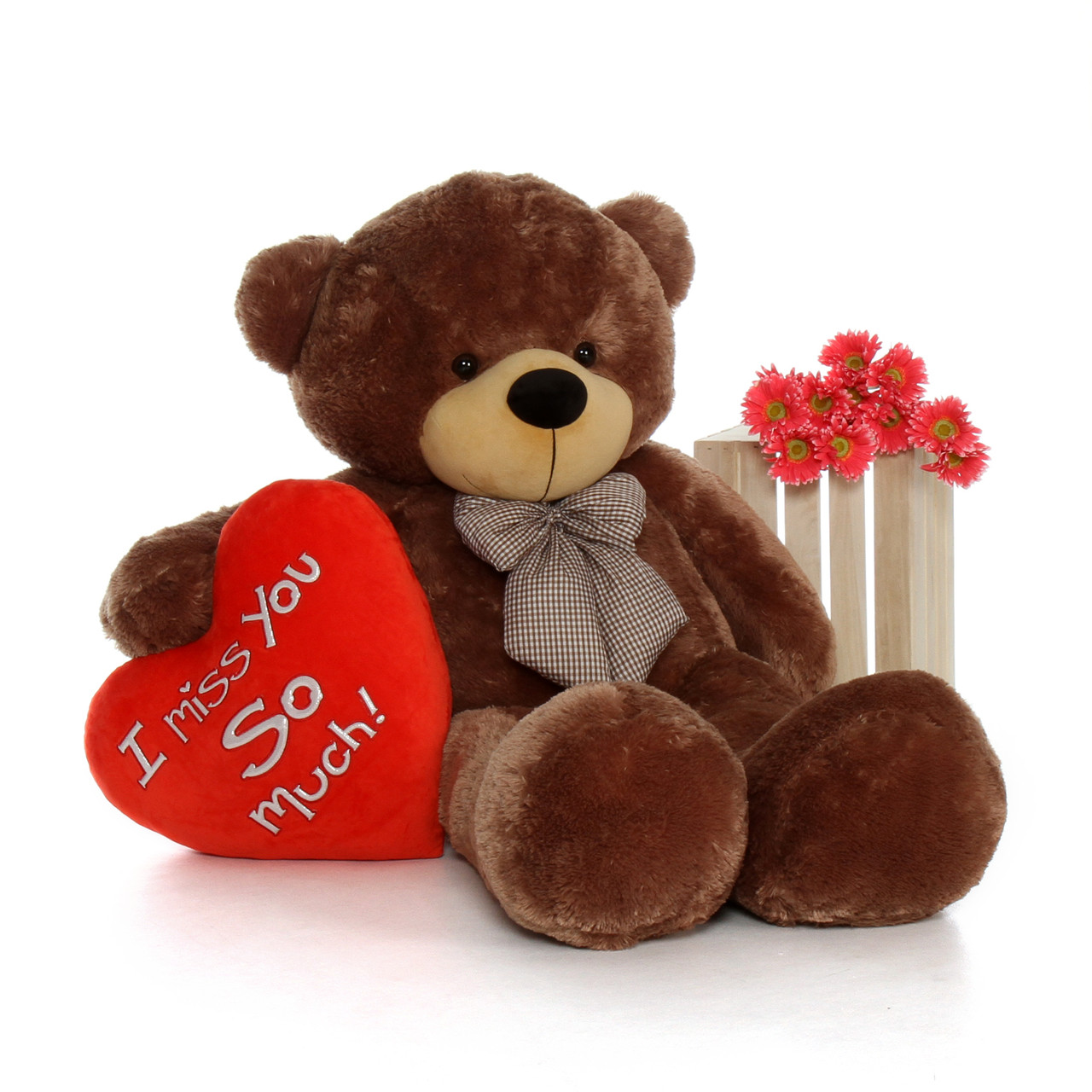 5 Foot Life Size Valentines Day Teddy Bear Sunny Cuddles